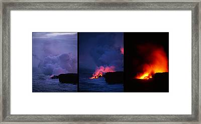 Framed Print featuring the photograph Pele's Breath Series by Gary Cloud