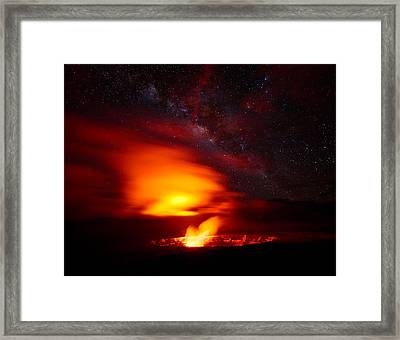 Pele's Mouth Framed Print