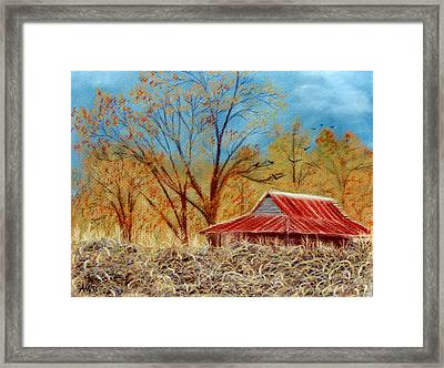 Pelham Barn Framed Print by Jan Amiss