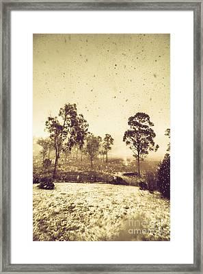 Pelham Snowstorm Framed Print by Jorgo Photography - Wall Art Gallery