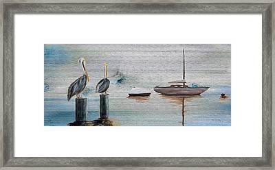 Pelican Bay On Wood Framed Print by Ken Figurski