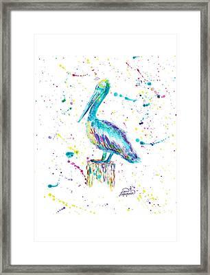 Pelican By Jan Marvin Framed Print