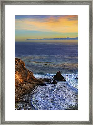 Pelican Cove In Rancho Palos Verdes Framed Print