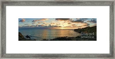 Pelican Cove Park Panorama Framed Print by Eddie Yerkish