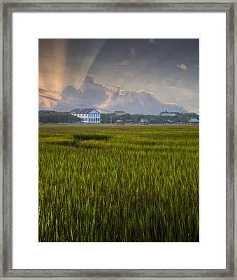 Pelican Inn Sunrise Framed Print by Ginny Horton