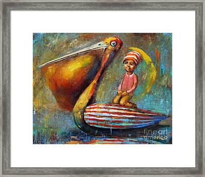 Pelican Journey Framed Print by Michal Kwarciak