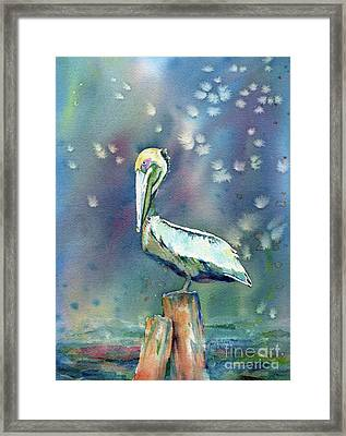 Pelican Framed Print by Mary Haley-Rocks