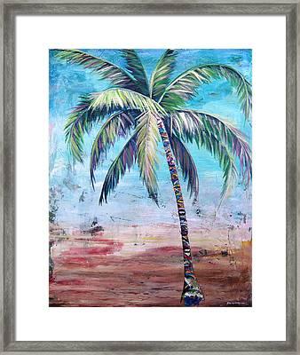 Pelican Palm II Framed Print