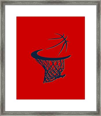 Pelicans Basketball Hoop Framed Print by Joe Hamilton