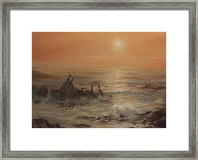 Pelicans Framed Print by Tom Shropshire