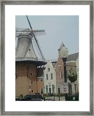 Pella Iowa Windmill Framed Print