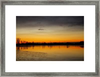 Pella Ponds  December 16th Sunrise Framed Print by James BO  Insogna