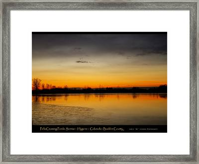 Pella Ponds  December 16th Sunrise Poster Photography Print Framed Print by James BO  Insogna