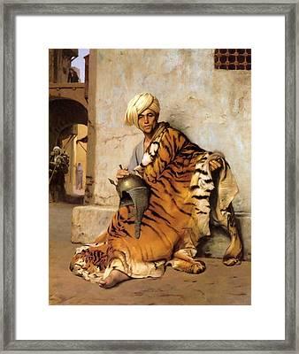 Pelt Merchant Of Cairo - 1869 Framed Print by Jean-Leon Gerome