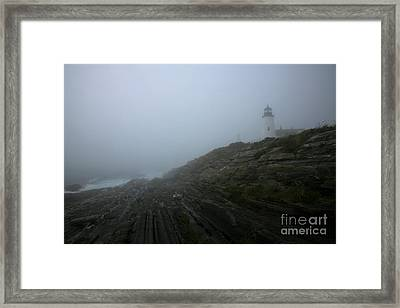 Pemaquid And The Sea Framed Print