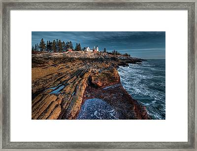 Pemaquid At Low Tide Framed Print