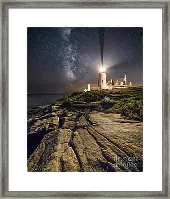 Pemaquid At Night Framed Print by Benjamin Williamson