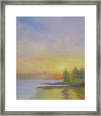 Pemaquid Beach Sunset Framed Print