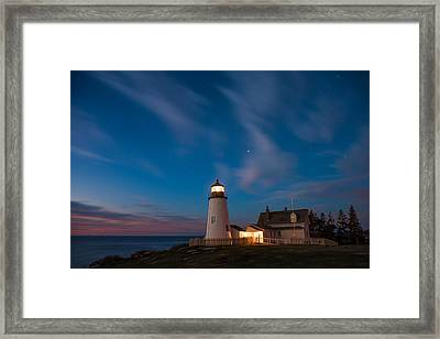 Pemaquid Dawn Framed Print