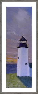 Pemaquid Light Morning Light Framed Print