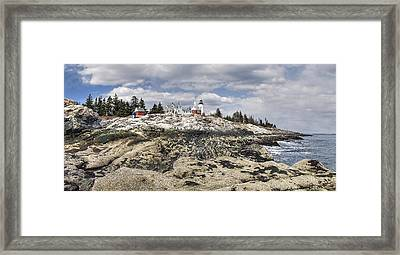 Pemaquid Light Panorama Framed Print