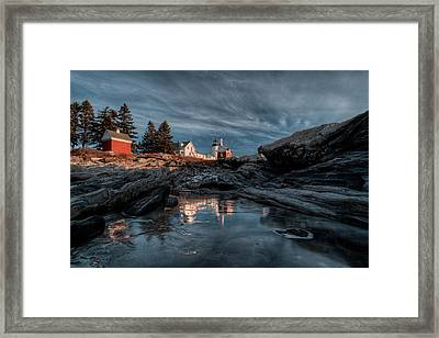 Pemaquid Light Reflected Framed Print
