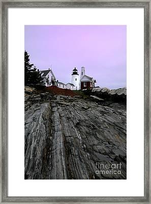 Pemaquid Light Framed Print by Timothy Johnson