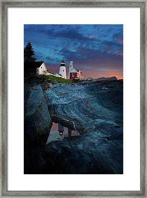 Pemaquid Lighthouse At Dawn Framed Print