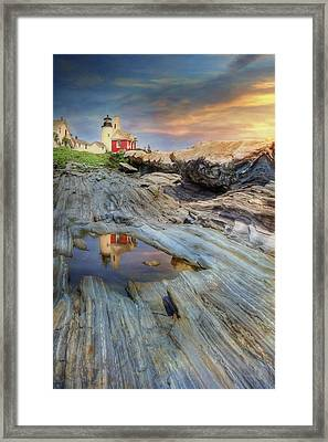 Pemaquid Lighthouse Framed Print by Lori Deiter