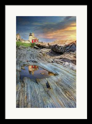 New England Ocean Mixed Media Framed Prints