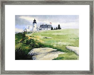 Pemaquid Lighthouse Maine Framed Print by William Gardner