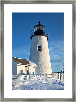 Pemaquid Lighthouse Portrait Framed Print by Eric Gendron