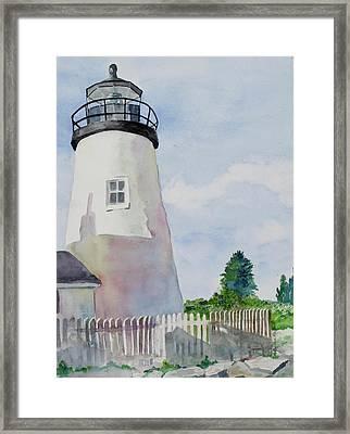 Pemaquid Lighthouse Framed Print by SallyAnn Rogers