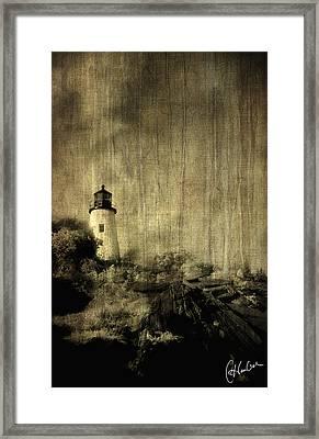 Pemaquid Point Framed Print by Christine Hauber
