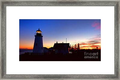 Pemaquid Point Evening Framed Print by Olivier Le Queinec