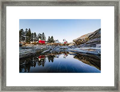 Framed Print featuring the photograph Pemaquid Point Light Reflection by Robert Clifford