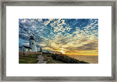 Pemaquid Point Lighthouse At Daybreak Framed Print