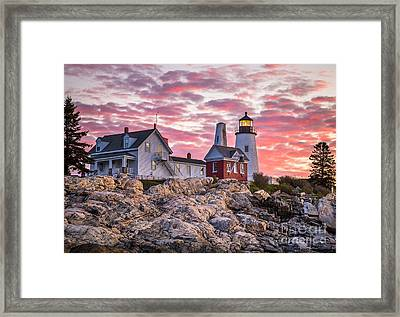Pemaquid Point Lighthouse  Framed Print by Benjamin Williamson