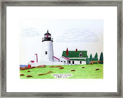 Pemaquid Point Lighthouse Framed Print by Frederic Kohli