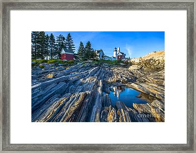 Pemaquid Point Lighthouse Maine Framed Print by Diane Diederich