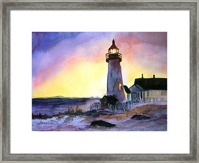 Pemaquid Point Lighthouse Maine Framed Print by Larry Hamilton