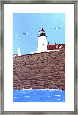Pemaquid Point Lighthouse Painting Framed Print by Frederic Kohli