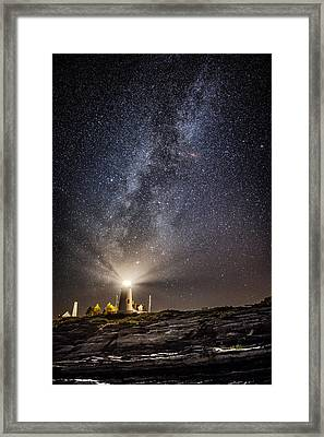 Pemaquid Point Milky Way Framed Print by Robert Clifford