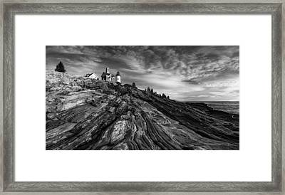 Pemaquid Point Mono Framed Print