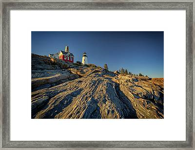 Pemaquid Point Framed Print by Rick Berk