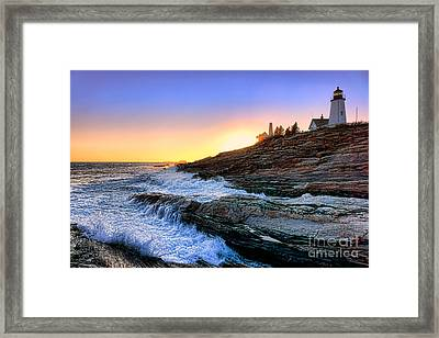 Pemaquid Point Sunset Framed Print