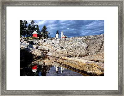 Pemaquid Reflection Framed Print by Olivier Le Queinec