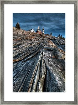 Pemaquid Ridge Color Framed Print