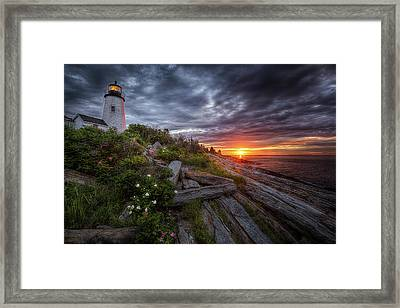 Pemaquid Sunrise Framed Print