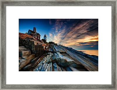 Pemaquid Sunrise Framed Print by Rick Berk
